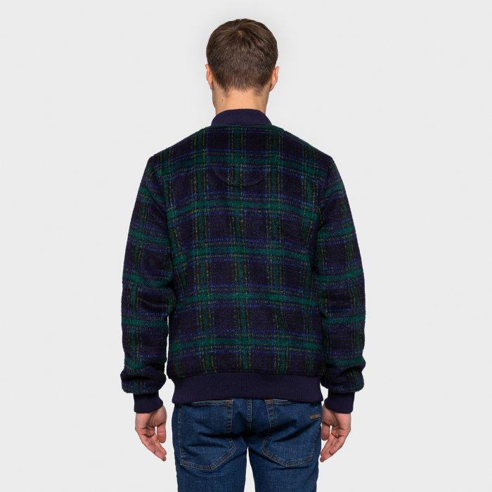 RVLT Fleece Plaid Bomber-The Trendy Walrus