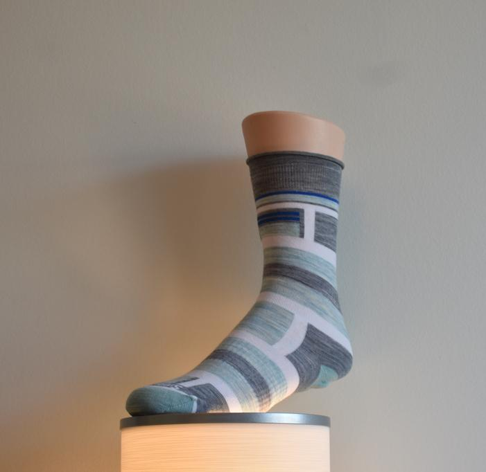 Smartwool Pressure Free Striped Crew Socks-The Trendy Walrus