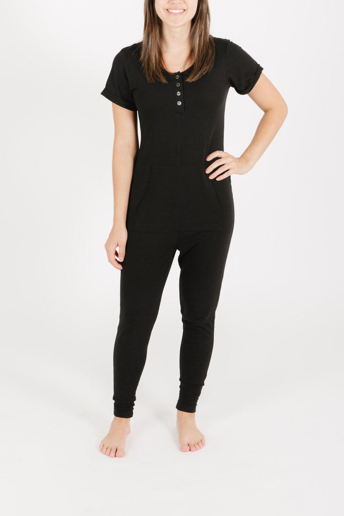 Smash+Tess Anyday Romper in Midnight Black-The Trendy Walrus