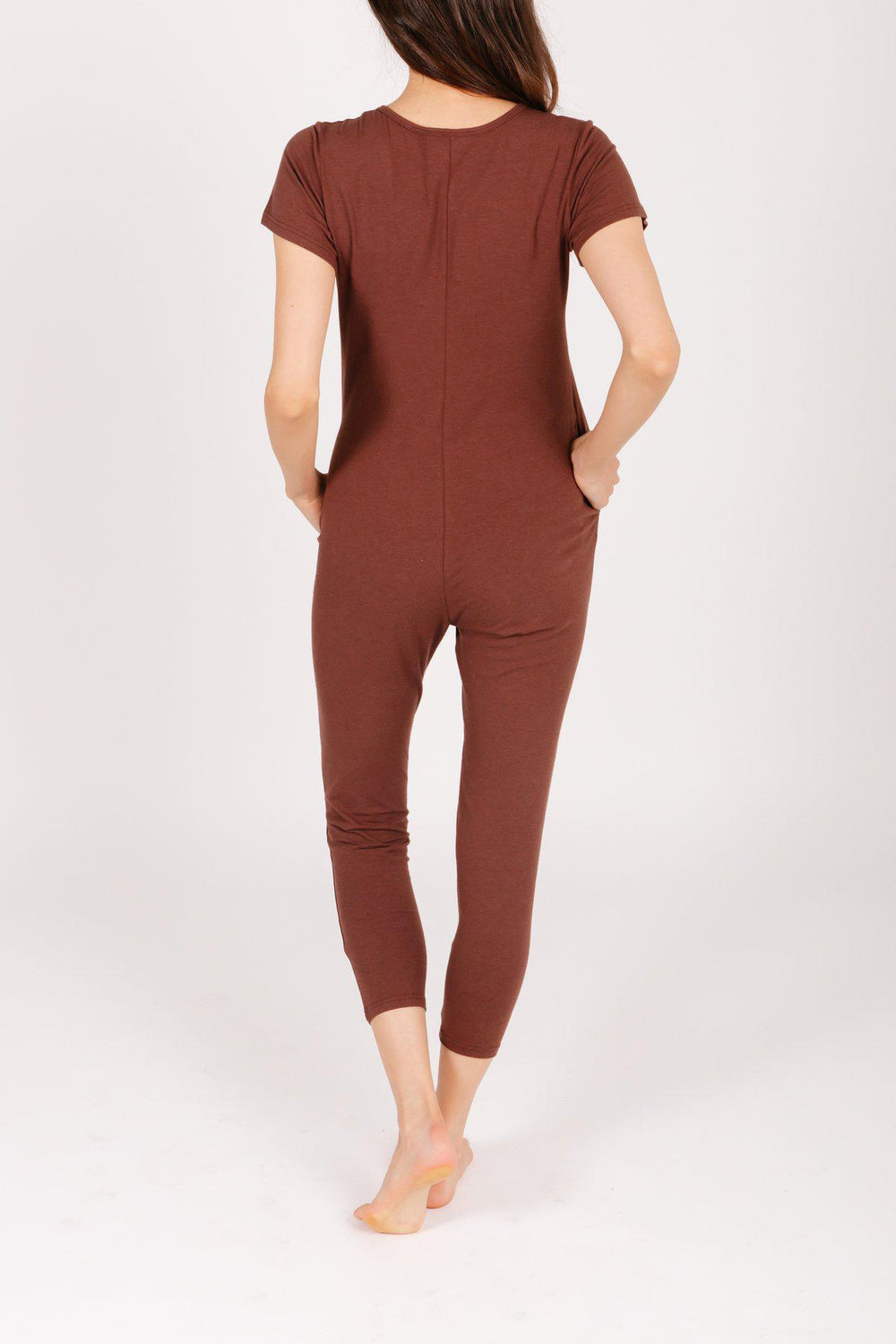 Smash+Tess Sunday Romper in Classic Cocoa-The Trendy Walrus