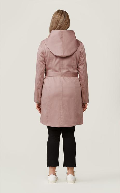 Soia & Kyo Arabella Hooded Trench Coat in Rosewater-The Trendy Walrus