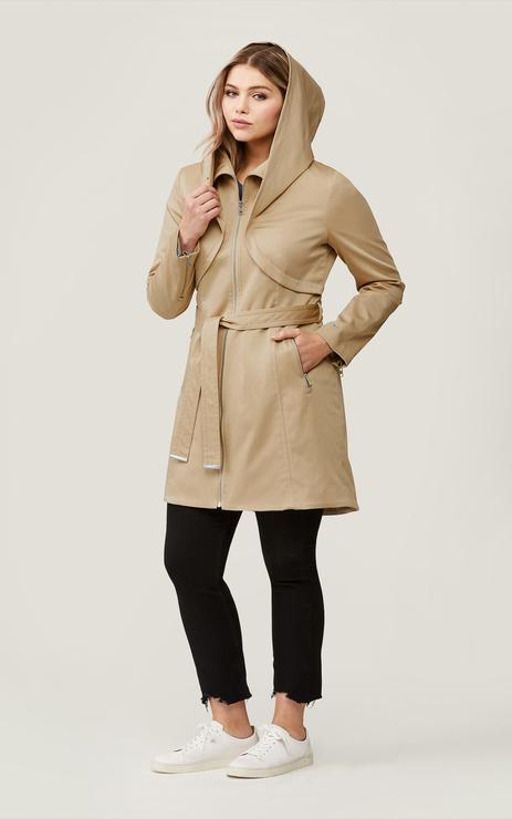 Soia & Kyo Arabella Hooded Trenchcoat in Almond-The Trendy Walrus