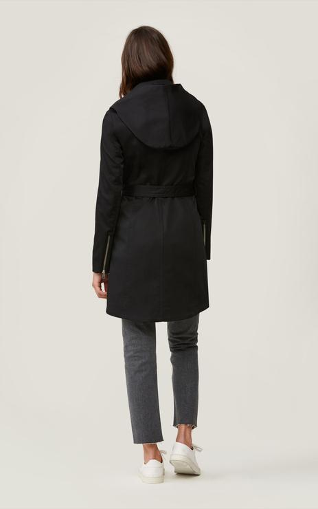 Soia & Kyo Arabella Hooded Trenchcoat in Black-The Trendy Walrus