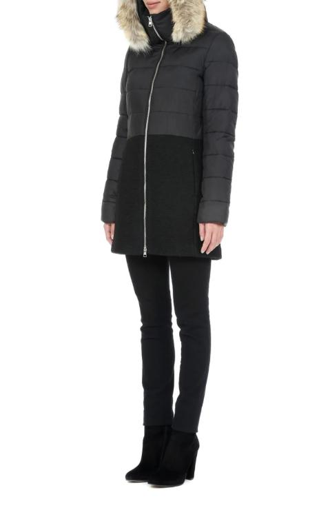Soia & Kyo Valery Parka in Black With Fur Trim-The Trendy Walrus