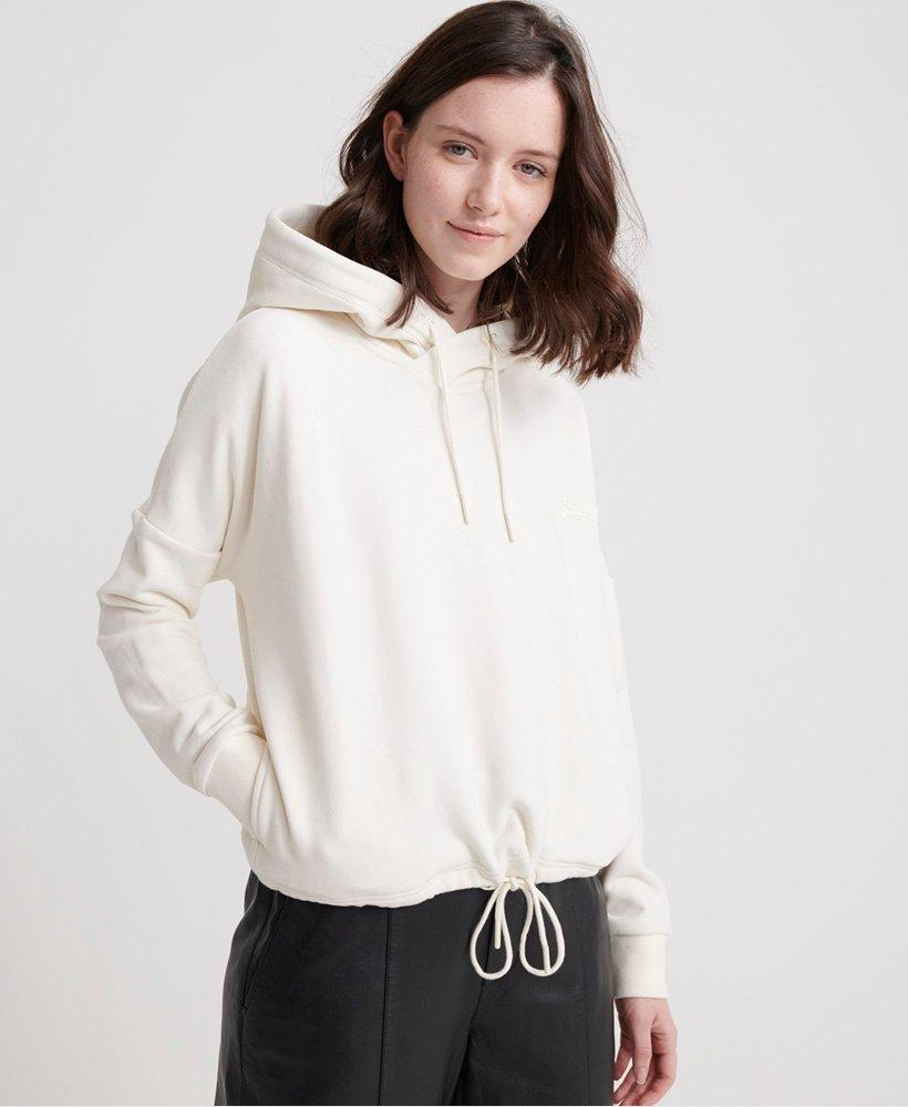 Superdry Elite Crop Hoodie in Buttercream-The Trendy Walrus