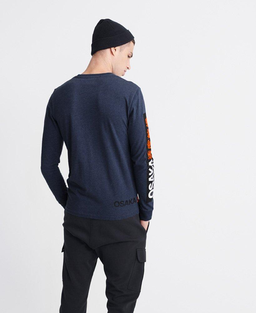 Superdry Osaka Series Long Sleeve Tee in Blue-The Trendy Walrus