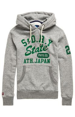 Superdry Track and Field Classic Hoodie in Peppered Grey-The Trendy Walrus