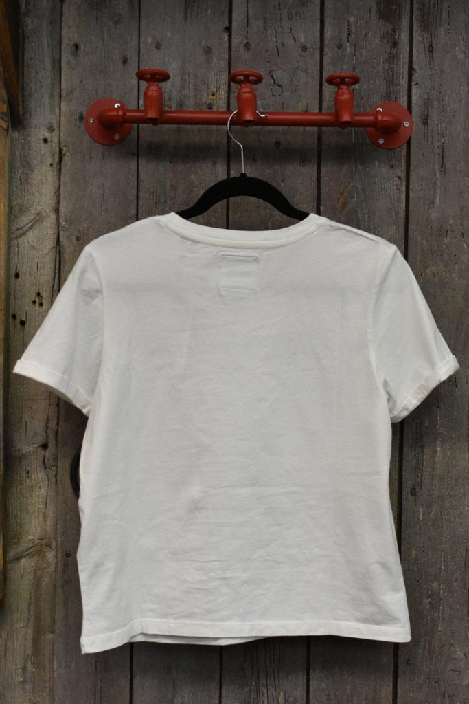 Superdry White Boxy Logo Tee-The Trendy Walrus