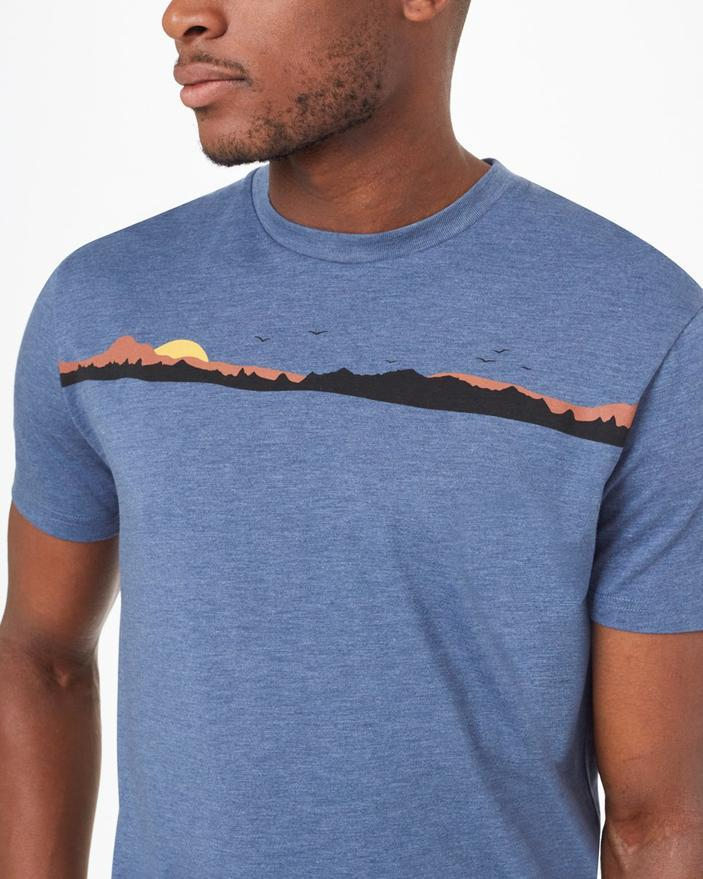 Tentree Coastal Classic T-Shirt in Blue-The Trendy Walrus