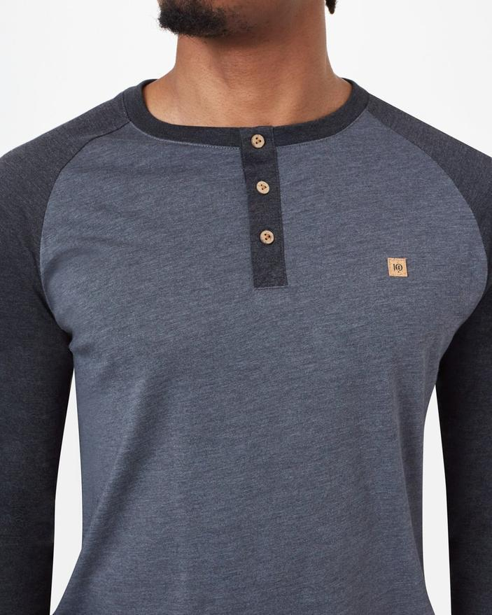 Tentree Henley Classic Longsleeve in Grey Heather-The Trendy Walrus