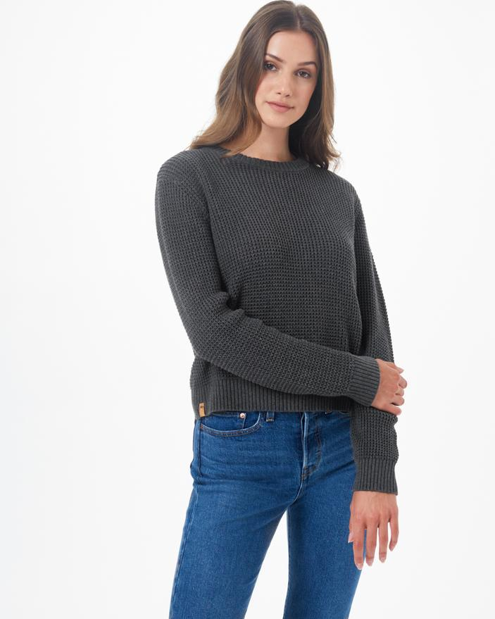 Tentree Highline Cotton Crew Sweater in Dark Grey-The Trendy Walrus