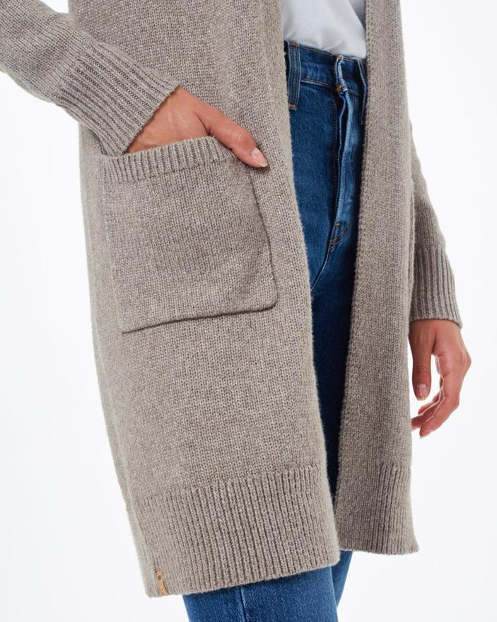 Tentree Highline Wool Cardigan in Taupe-The Trendy Walrus