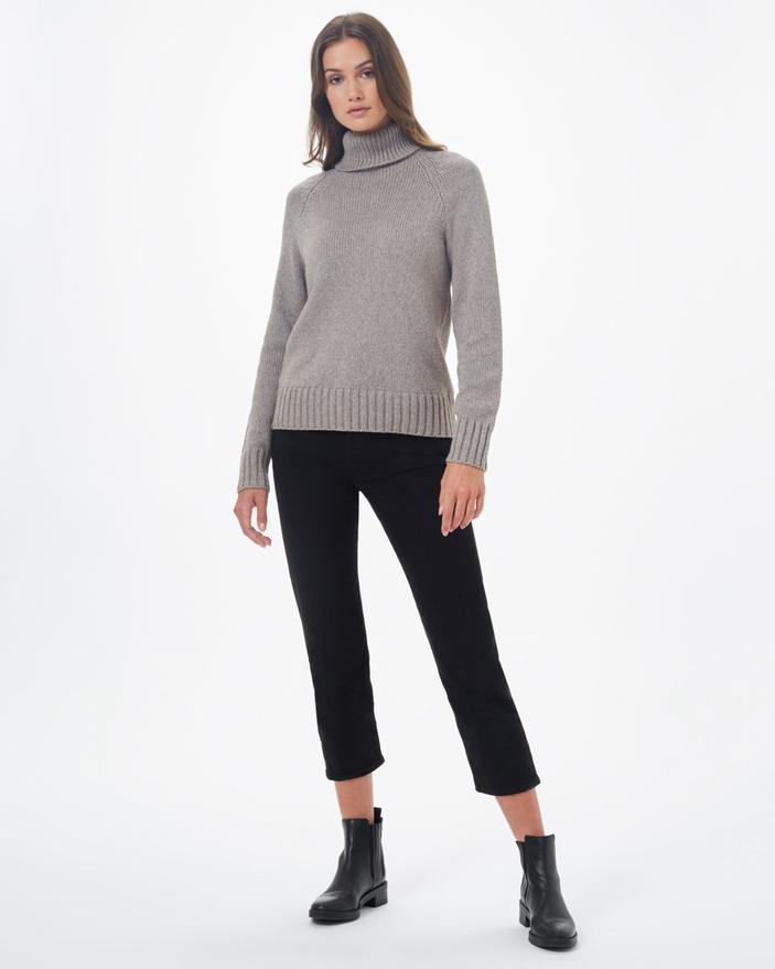 Tentree Highline Wool Turtleneck Sweater in Taupe-The Trendy Walrus