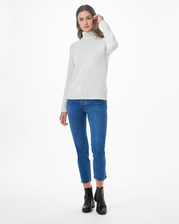 Tentree Highline Wool Turtleneck Sweater in White-The Trendy Walrus