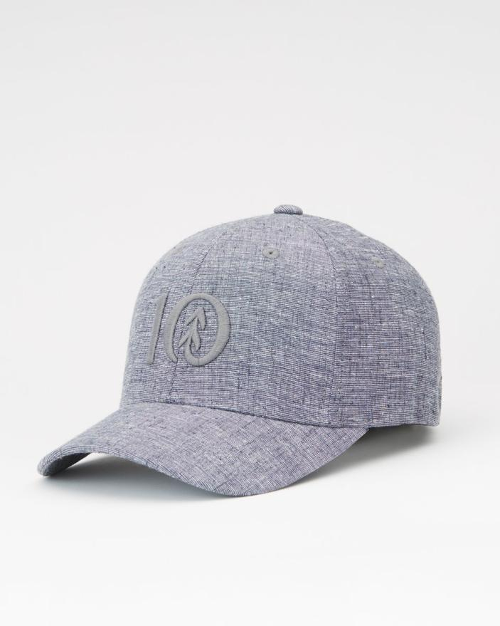 Tentree Logo Hemp Thicket Hat in Blue Heather-The Trendy Walrus