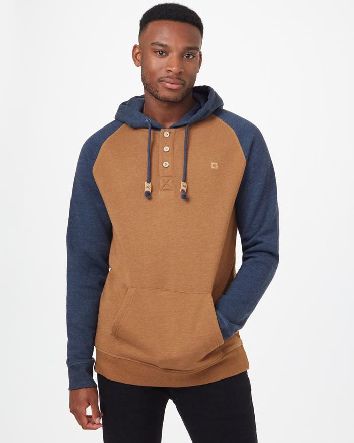 Tentree Oberon Hoodie in Brown & Blue-The Trendy Walrus