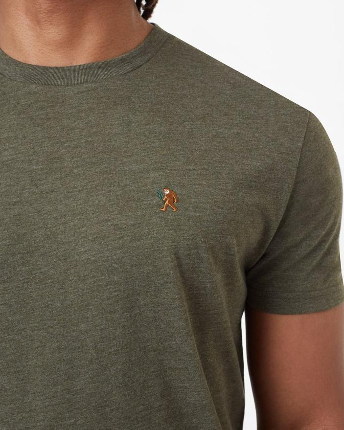 Tentree Sasquatch Classic T-Shirt in Olive Heather-The Trendy Walrus