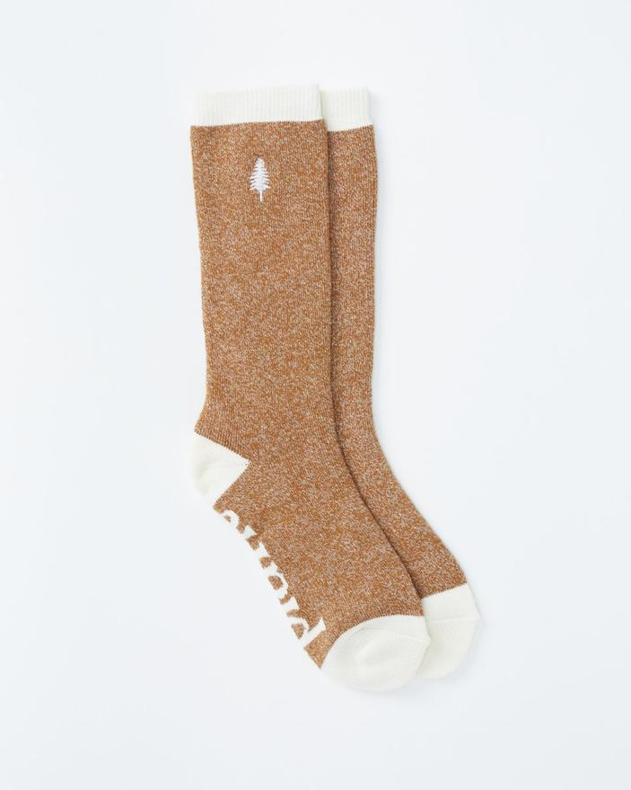 Tentree Selkirk Embroidered Sock in Brown-The Trendy Walrus