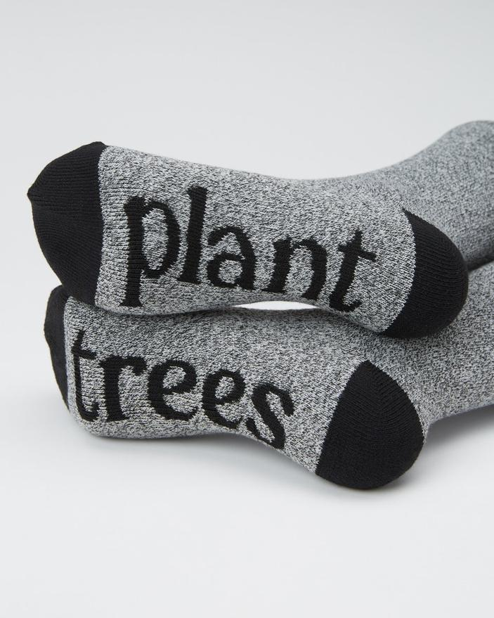 Tentree Selkirk Embroidered Sock in Grey Marled-The Trendy Walrus