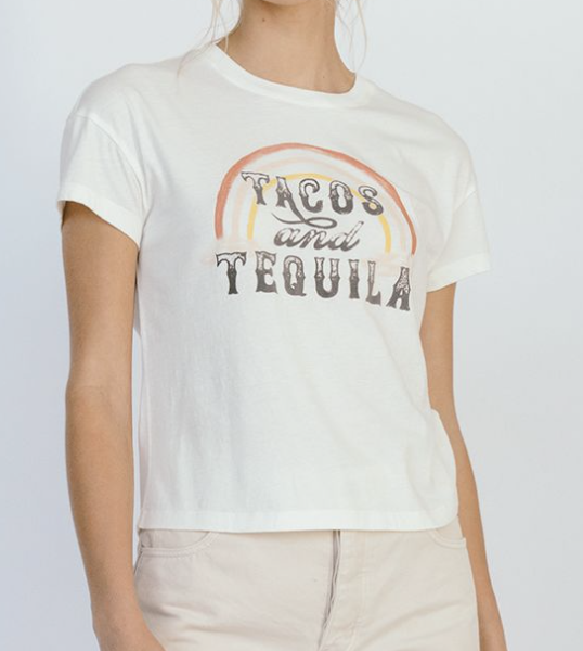 White Crow Tacos and Tequila Tee-The Trendy Walrus