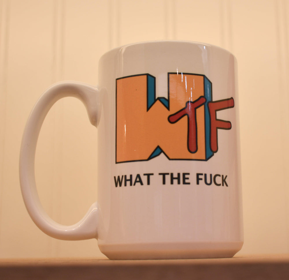 WTF Coffee Mug-The Trendy Walrus