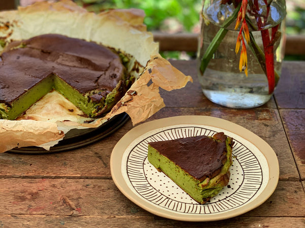 Matcha Basque Burnt Cheesecake Heymatcha