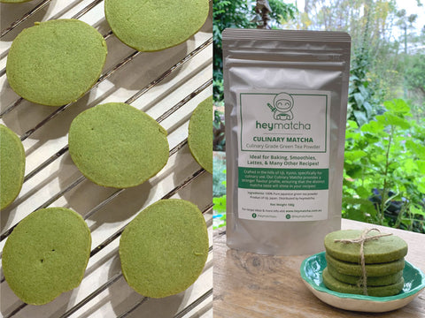 how to make matcha shortbread