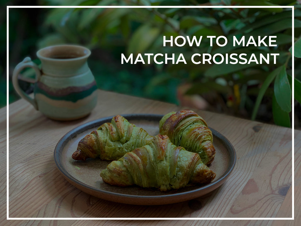 how to make matcha croissant