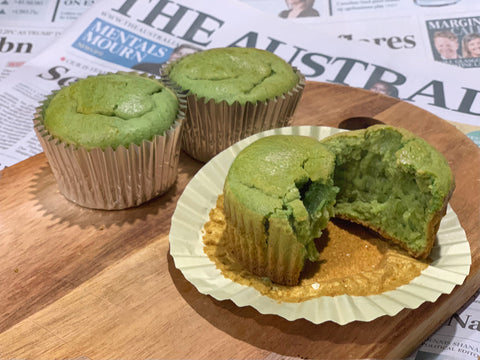 matcha cream cheese muffin