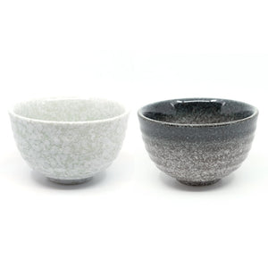 Ceramic Matcha Bowl (Chawan) Snowy Jade And Starry Black