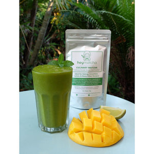 mango smoothie made from heymatcha culinary matcha