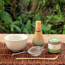 Load image into Gallery viewer, heymatcha ceremonial matcha gift set outside setting