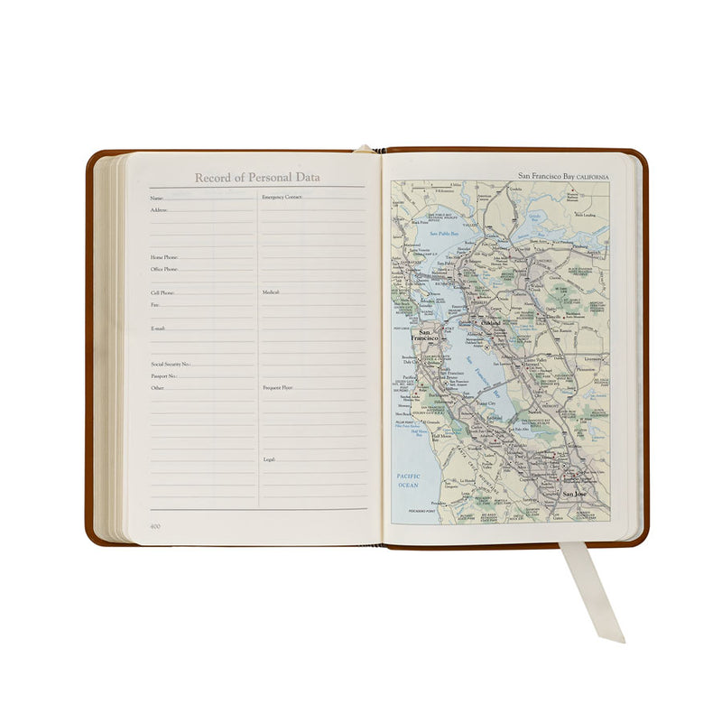 2021 Appointment Diary Taupe Goatskin Leather