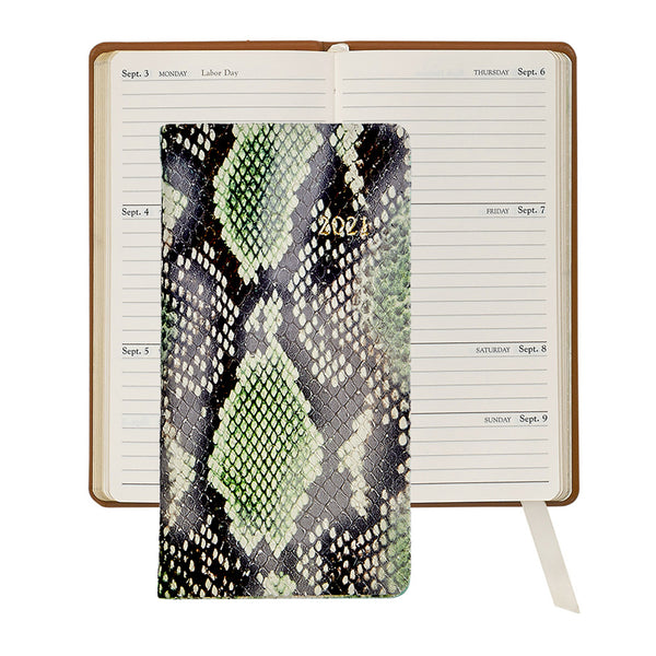 2021 Pocket Diary Python Embossed Leather