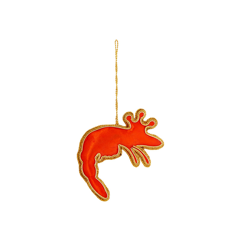 KING PRAWN SEQUIN CHRISTMAS DECORATION
