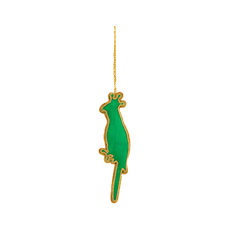 QUEEN LORIKEET SEQUIN CHRISTMAS TREE DECORATION back