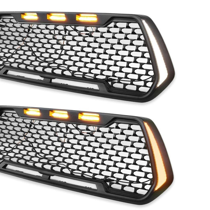 Fang Style Grille w/3 LED Lights and Vertical Indicator - 2016+ Toyota Tacoma - Yota Nation