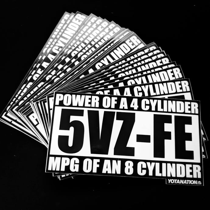5VZ-FE Power Sticker - Yota Nation