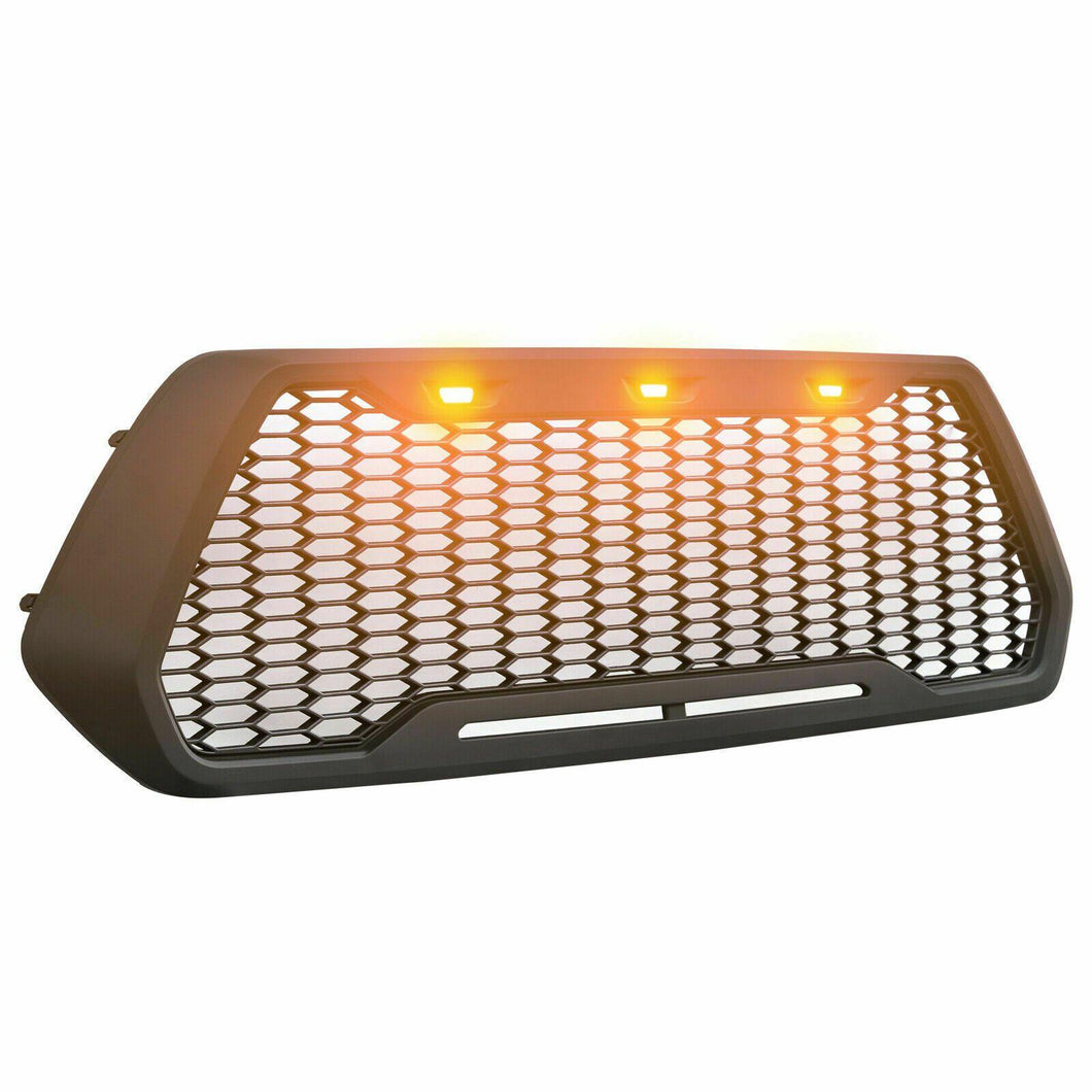 Raptor Style Matte Black Grille w/3 LED Lights - 2016+ Toyota Tacoma - Yota Nation