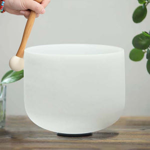 White Quartz Crystal Singing Bowls