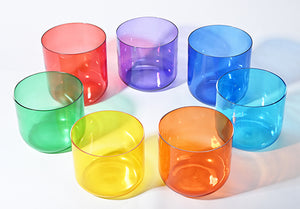 Colorful Quartz Crystal Singing Bowls Set