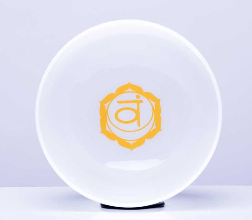 Chakra Design White Cryrstal Singing Bowls