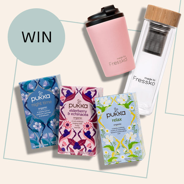 Pukka tea and Fressko coffee cup and flask giveaway