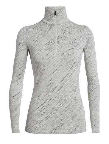 Icebreaker Women's 250 Vertex Long Sleeve Half Zip Snow Storm