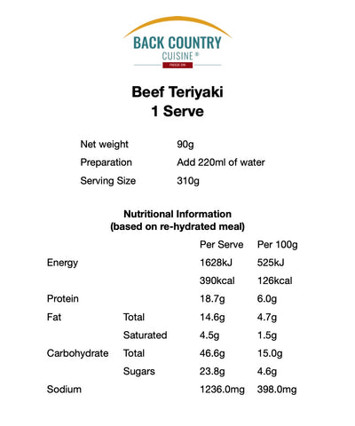 Back Country Beef Teriyaki (GF)