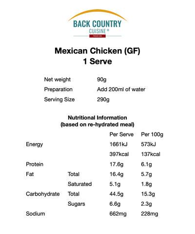 Back Country Mexican Chicken (GF)