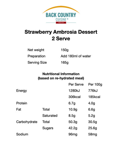 Back Country Strawberry Ambrosia (GF)