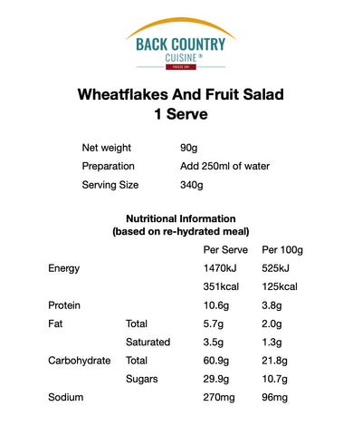 Back Country Wheatflakes & Fruit Salad