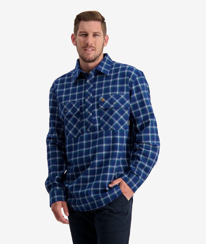 Swanndri Men's Barn 100% Cotton Long Sleeve Work Shirt