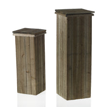 Load image into Gallery viewer, Rustic Wood Pedestal